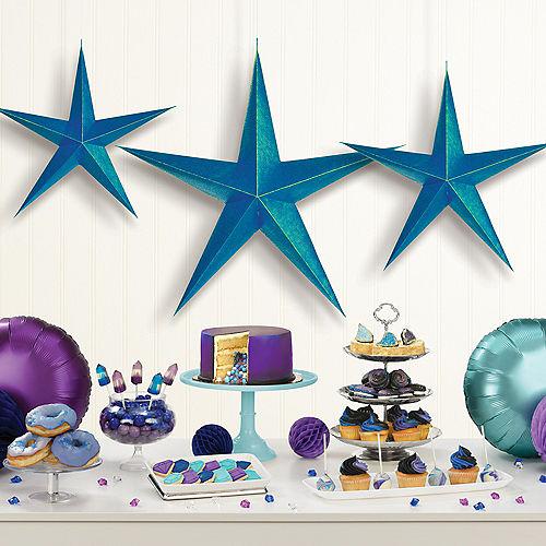 Sparkling Sapphire 3D Star Decorations 3ct Image #2
