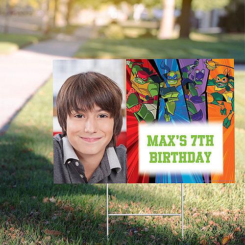 Custom Rise of the TMNT Photo Yard Sign Image #1