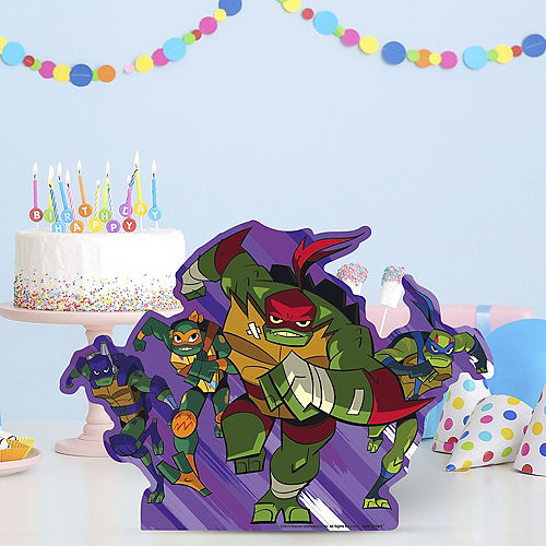 Rise of the TMNT Centerpiece Cardboard Cutout, 16in x 11in Image #1