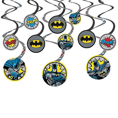 Justice League Heroes Unite Batman Swirl Decorations 12ct Image #1