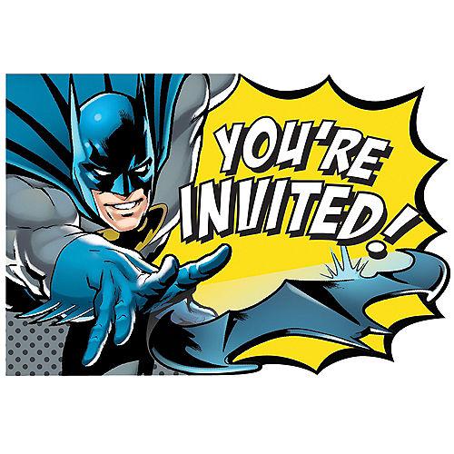 Justice League Heroes Unite Batman Invitations 8ct Image #1