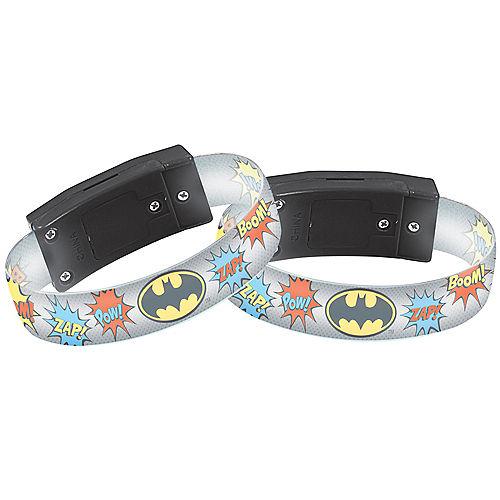 Light-Up Justice League Heroes Unite Batman Bracelets 4ct Image #1