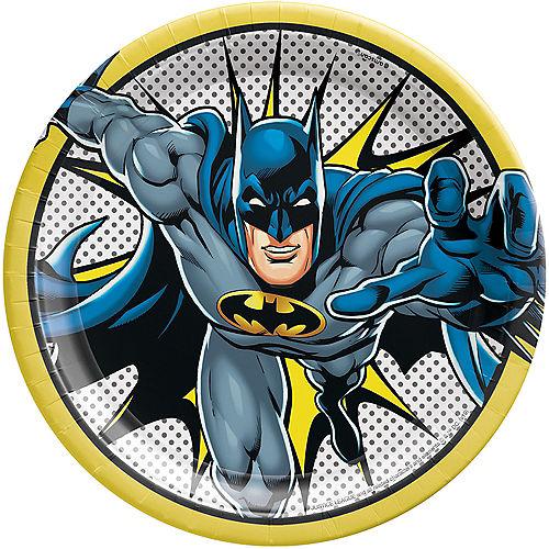 Justice League Heroes Unite Batman Lunch Plates 8ct Image #1