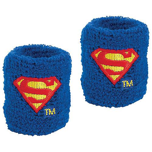 Justice League Heroes Unite Superman Sweatbands 8ct Image #1