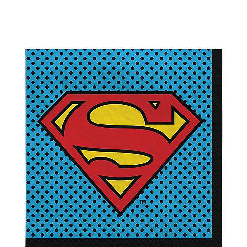 Justice League Heroes Unite Superman Lunch Napkins 16ct Image #1