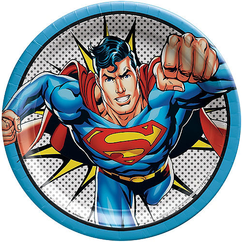 Justice League Heroes Unite Superman Lunch Plates 8ct Image #1