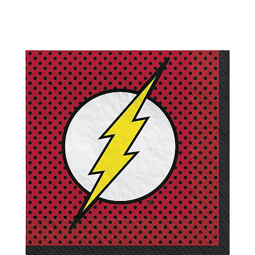 Justice League Heroes Unite The Flash Lunch Napkins 16ct Image #1