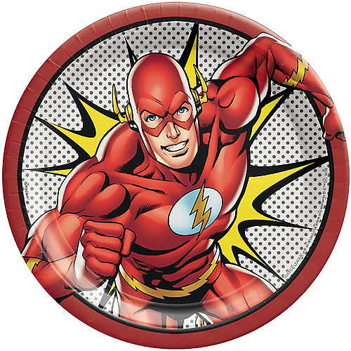 Justice League Heroes Unite The Flash Lunch Plates 8ct Image #1