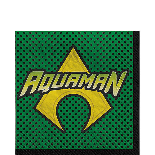 Justice League Heroes Unite Aquaman Lunch Napkins 16ct Image #1