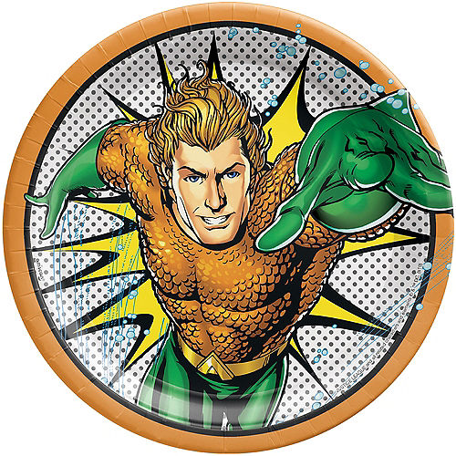 Justice League Heroes Unite Aquaman Lunch Plates 8ct Image #1