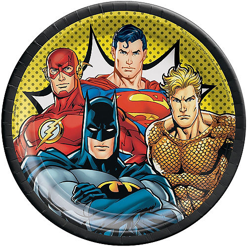 Justice League Heroes Unite Lunch Plates 8ct Image #1