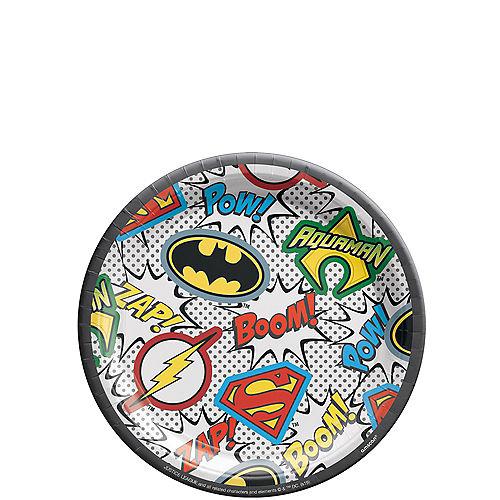 Justice League Heroes Unite Dessert Plates 8ct Image #1