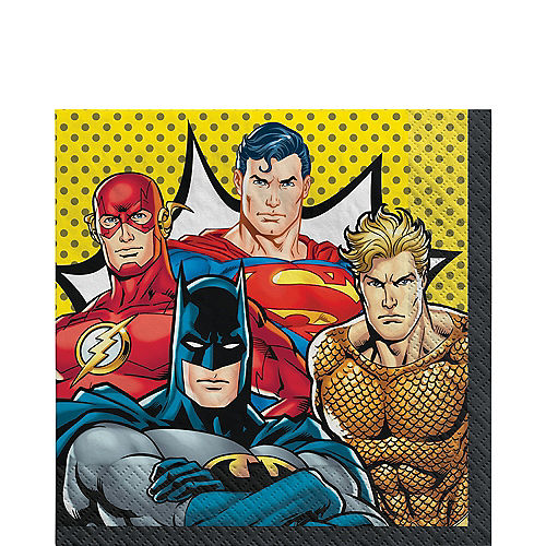 Justice League Heroes Unite Lunch Napkins 16ct Image #1