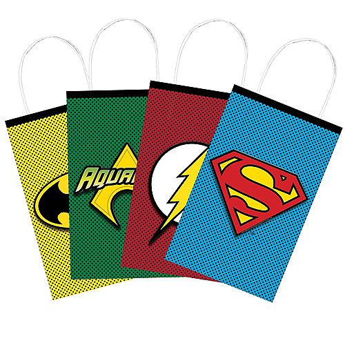 Justice League Heroes Unite Create Your Own Favor Bag Kit 8ct Image #2