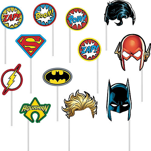 Justice League Heroes Unite Photo Booth Kit 16pc Image #2