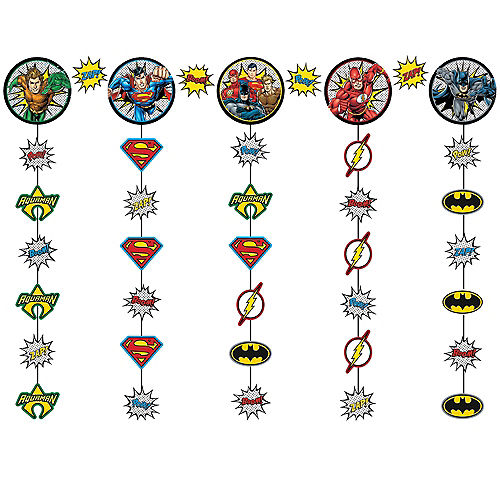 Justice League Heroes Unite String Garland Kit 5pc Image #1