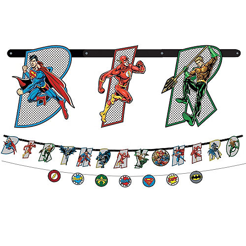 Justice League Heroes Unite Banner Kit 2ct Image #1
