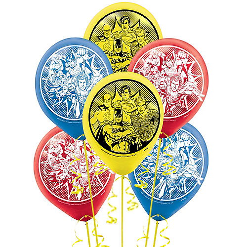 Justice League Heroes Unite Balloons, 12in, 6ct Image #1