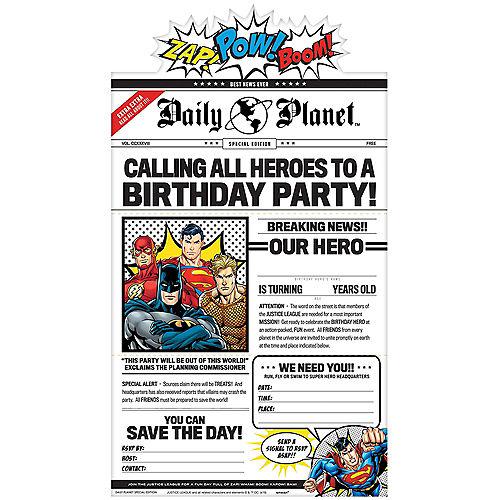 Justice League Heroes Unite Invitations 8ct Image #1