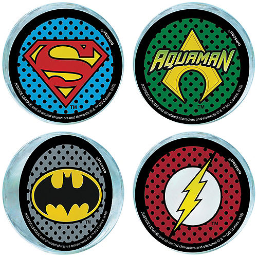 Justice League Heroes Unite Bounce Balls 4ct Image #1