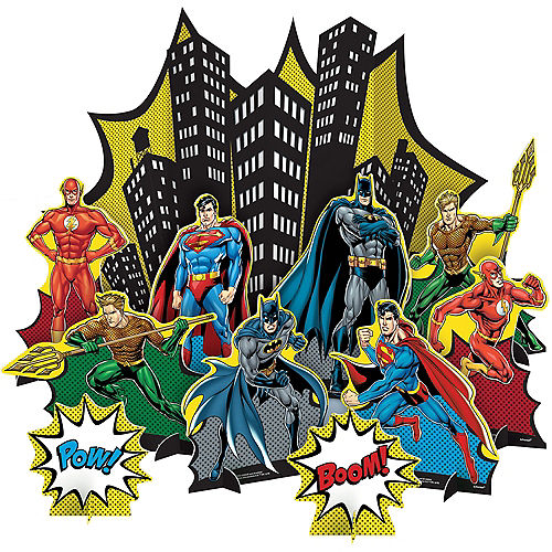 Justice League Heroes Unite Table Decorating Kit 11pc Image #1