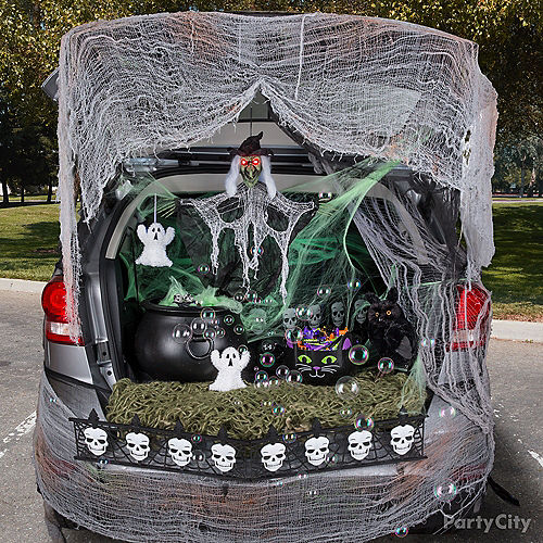 Classic Witch Trunk-or-Treat Car Decorating Kit Image #1