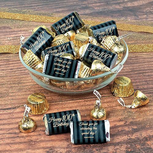 Milestone 100th Birthday Hershey's Chocolate Mix 180pc Image #1
