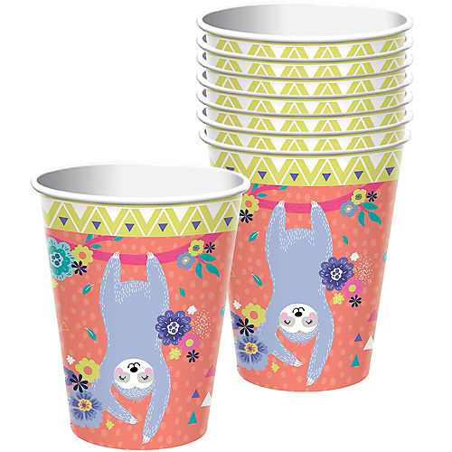 Sloth Party Cups 8ct Image #1