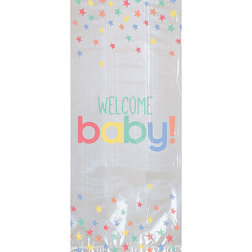 Pastel Stars Welcome Baby Shower Treat Bags, 20ct Image #1