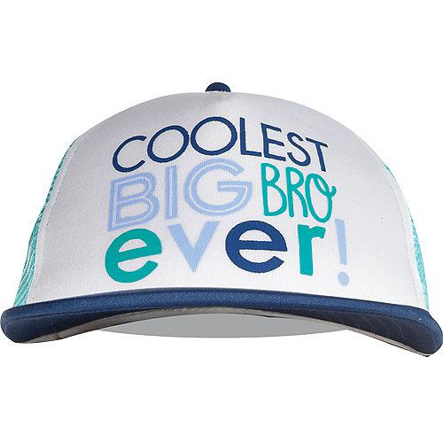 Blue Coolest Big Bro Ever Trucker Hat Image #1