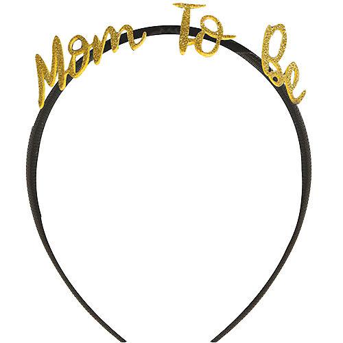 Glitter Gold Mom-to-Be Headband Image #1