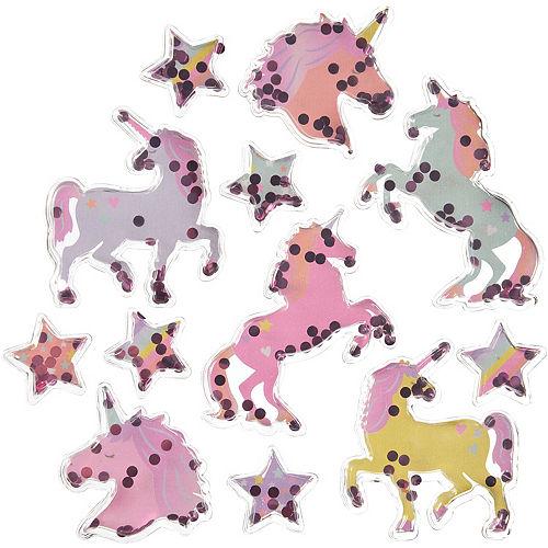 Sparkling Unicorn Confetti Shake Stickers, 1 Sheet Image #1