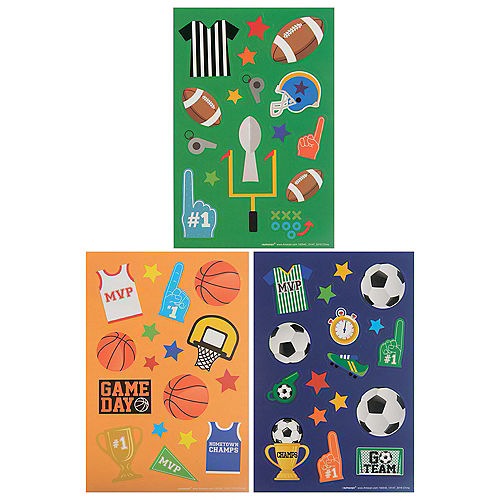 Sports Champs Stickers, 12 Sheets Image #1