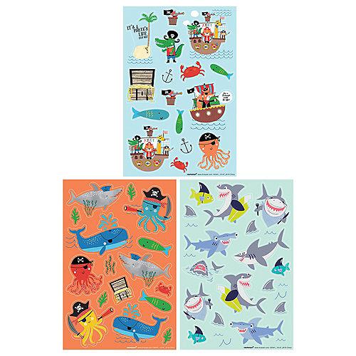 Pirate Sea Creature Stickers, 12 Sheets Image #1