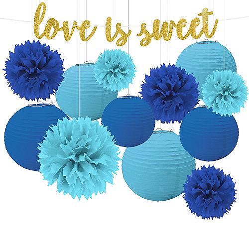 Blue & Gold Love Decorating Kit Image #1