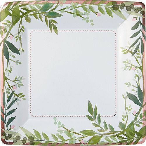 Metallic Floral Greenery Wedding Tableware Kit for 50 Guests Image #3