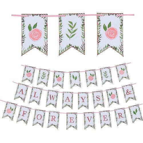 Metallic Floral Greenery Wedding Tableware Kit for 50 Guests Image #8