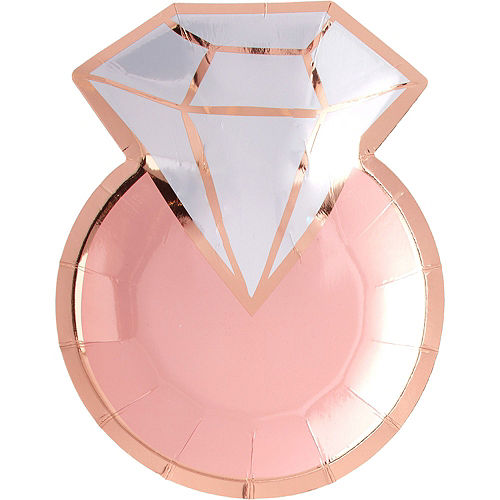 Metallic Blush and Rose Gold Bridal Shower Dessert Party Supplies for 50 Guests Image #2