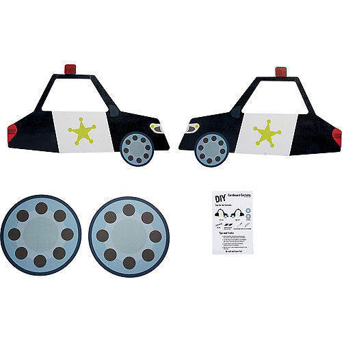 Child Wheelchair Police Car Costume Image #2