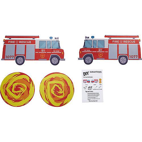 Child Wheelchair Fire Truck Costume Image #2
