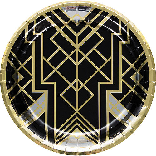 Metallic Roaring 20s Lunch Plate 8ct Image #1