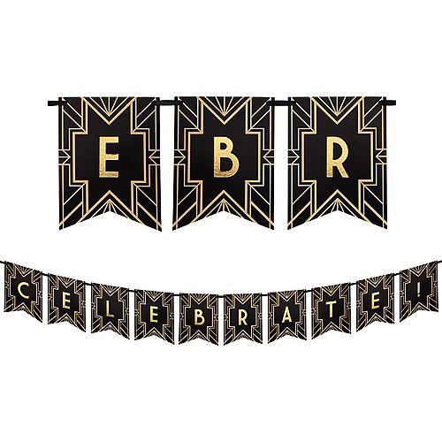 Roaring 20s Letter Banner Kit Image #1