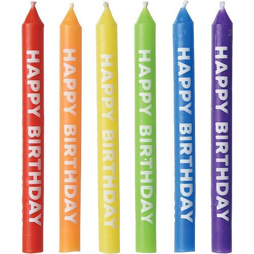 Rainbow Happy Birthday Candles 12ct Image #1