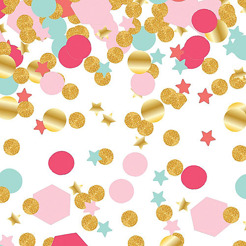 Blue, Gold & Pink Confetti Packs, 8ct Image #1