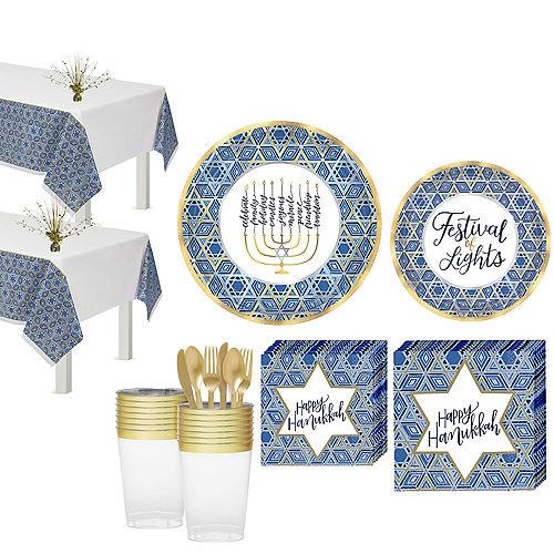 Festival Of Lights Hanukkah Tableware Kit for 54 Guests Image #1