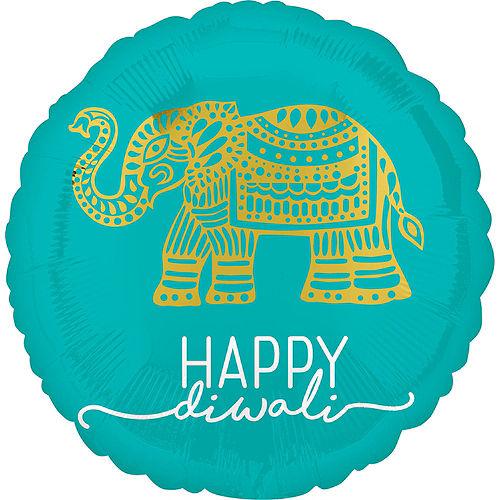 Happy Diwali Balloon & Paper Fan Room Decorating Kit Image #4