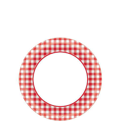 Picnic Gingham Tableware Kit for 120 Guests Image #2