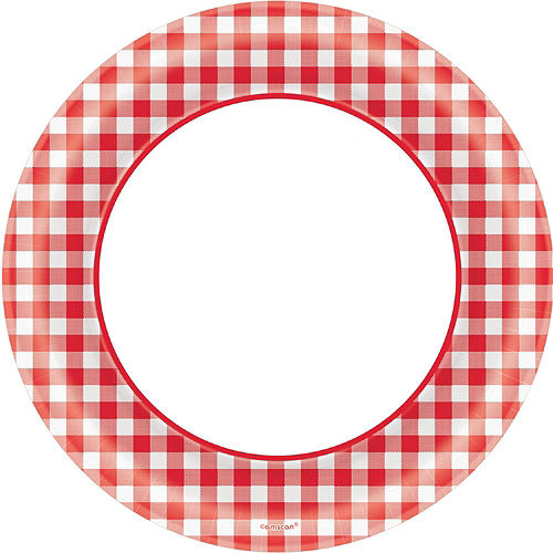 Picnic Gingham Tableware Kit for 120 Guests Image #3