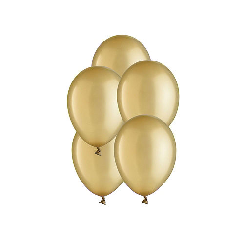 Air-Filled Black, Silver & Gold Balloon Drop Kit Image #3