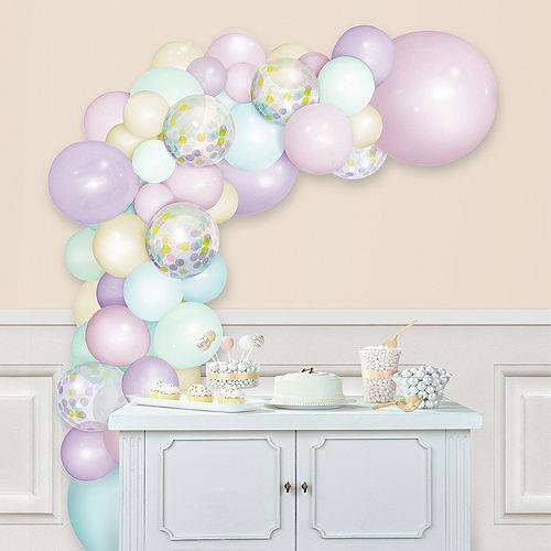 Air-Filled Macaroon Pastel Balloon Garland Kit Image #1